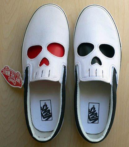 vans shoes skulls
