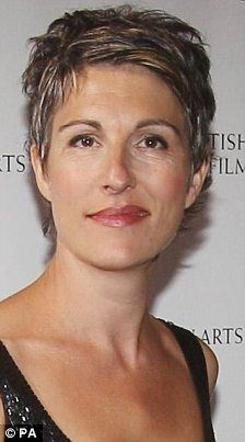 Growing grey gracefully: Tamsin Greig shows off st