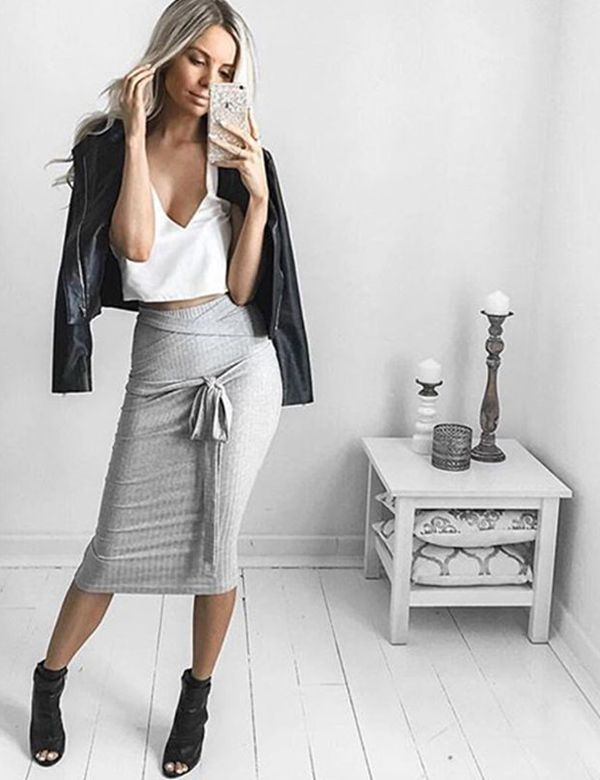 Women S Summer Y Pencil Skirts Office Mid Waist Cly Outfits 2017
