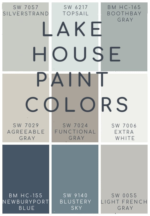 Lake House Blue And Gray Paint Colors Paint Colors For Home