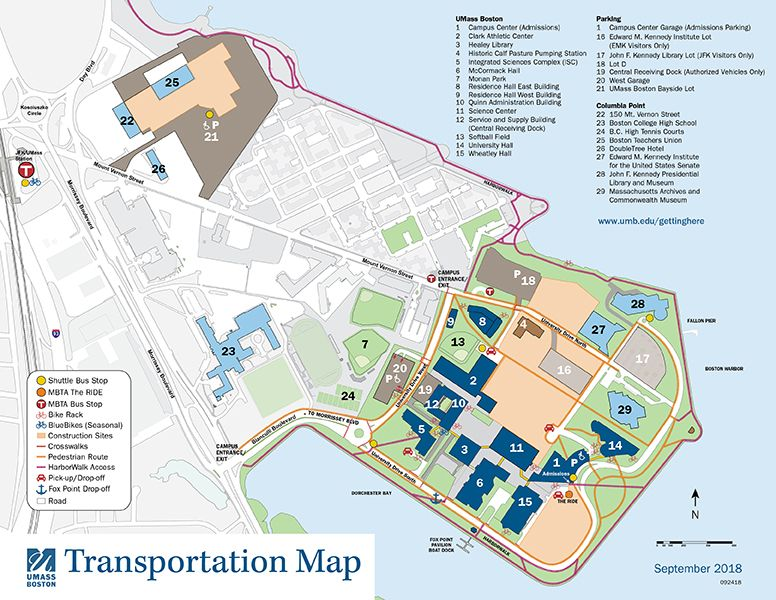 University Of Massachusetts Boston Parking Map University Of Massachusetts Boston Campus Map University Of Massachusetts Map