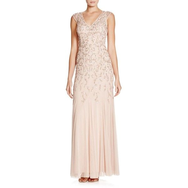 Aidan Mattox Beaded Gown (298.530 CLP) ❤ liked on Polyvore ...
