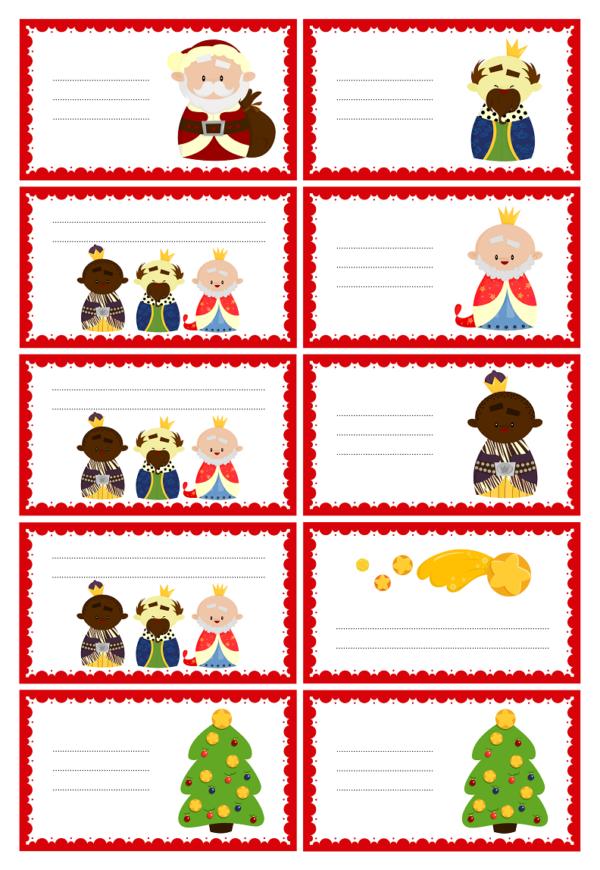Etiquettes à imprimer pour cadeaux de Noël à offrir -