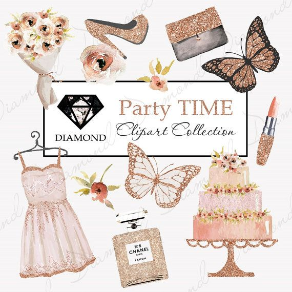 2451eb816b30 Fashion Clipart, Digital cliparts, Party Clipart, Copper, Lipstick Flowers  Chanel, Beauty Clipart, P