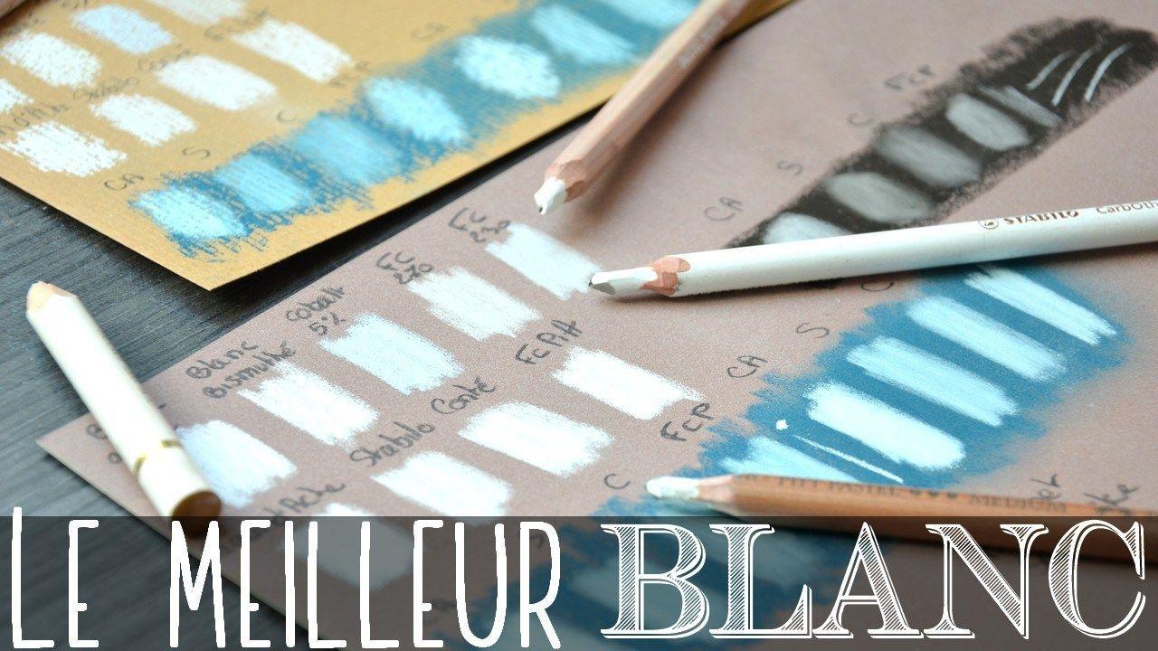Comparaison Des Crayons Pastels Blancs Crayons Pastel Comment