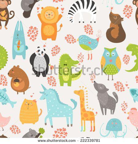 Zoo Animals Zebra Giraffe Iron On Transfer A5 Size