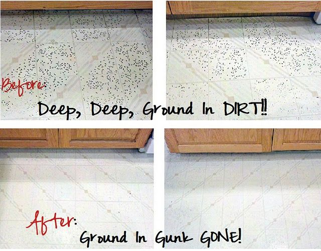 Getting Ground In Dirt Out of Vinyl Flooring! I\'m talking ...
