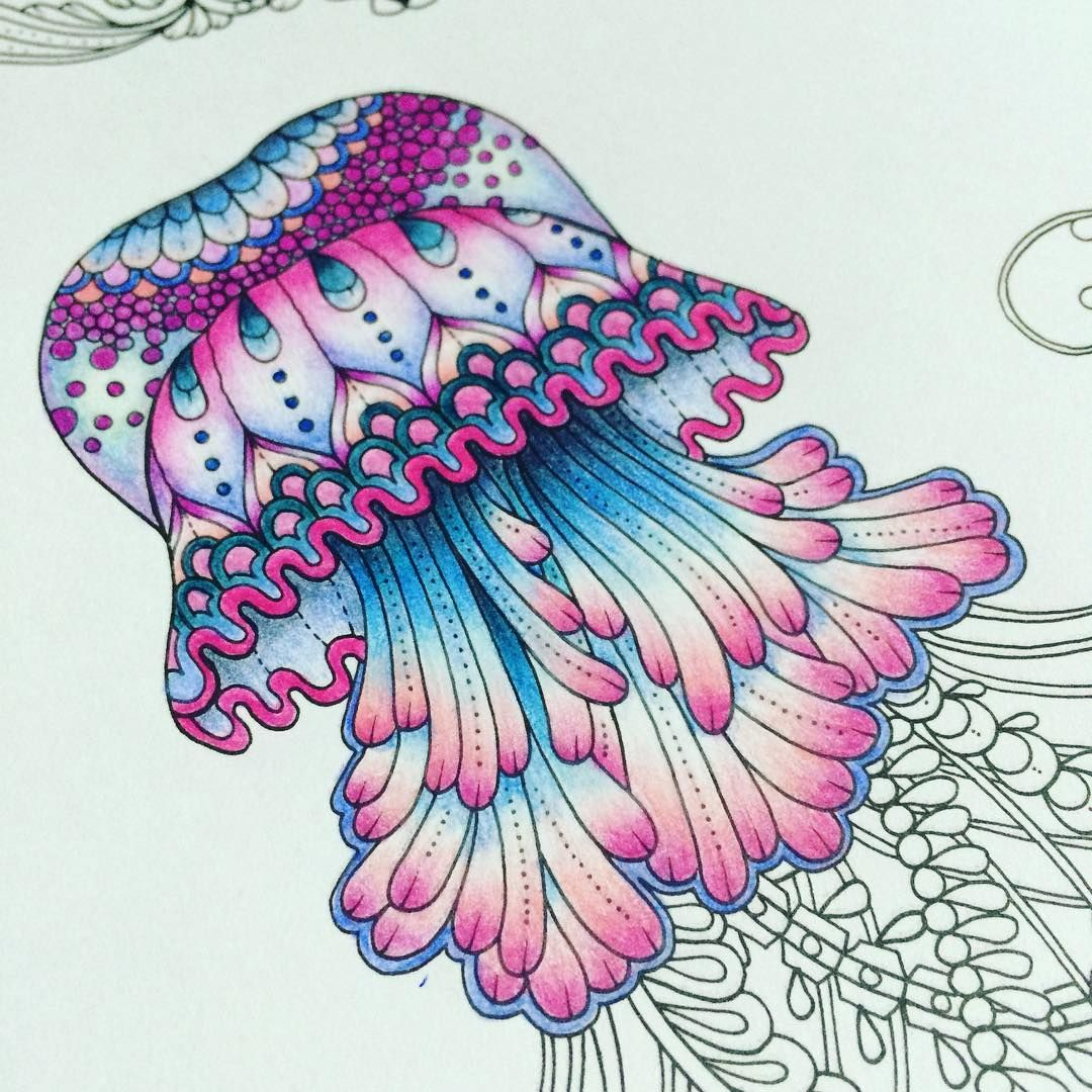 Time to start moving on again! #johannabasford #lostocean #lostoceancoloringbook #polychromo #fabercastellpolychromo #lostoceancolouringbook #adultcoloringbook #adultcolouringbook