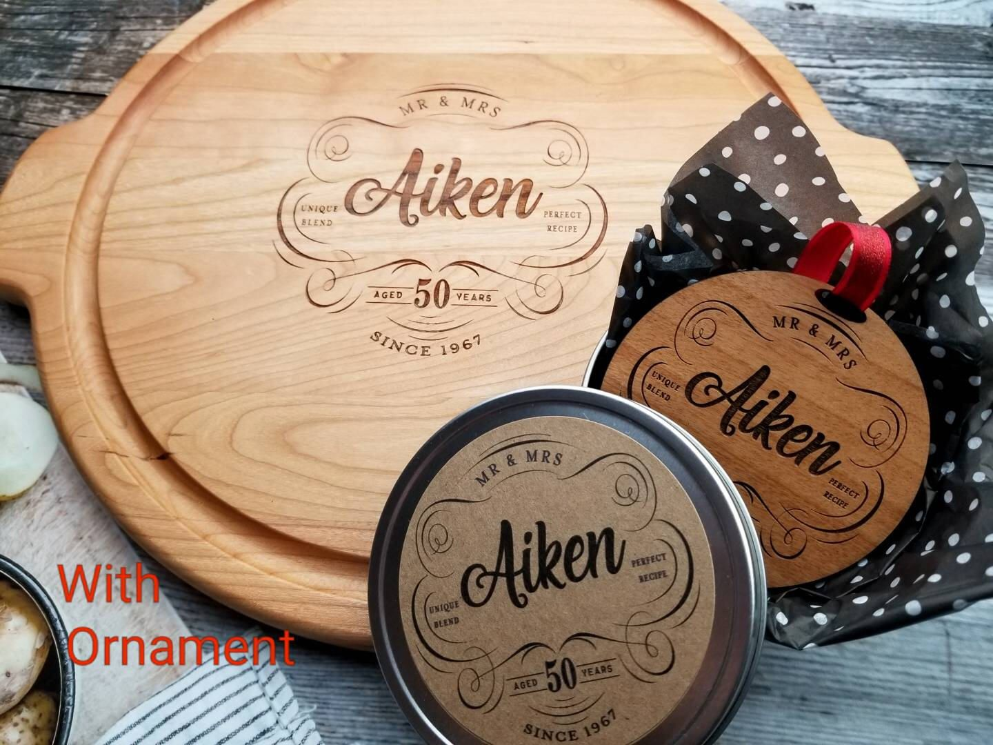 Anniversary Gift Personalized Wood Serving, 5th