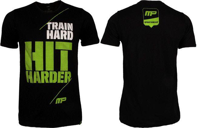 musclepharm-train-hard-hit-harder-shirt-black | MusclePharm ...