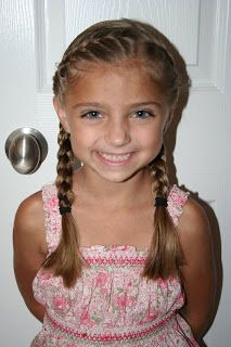 """Back to School Hairdo: French """"Doubled-Up"""" Braids 