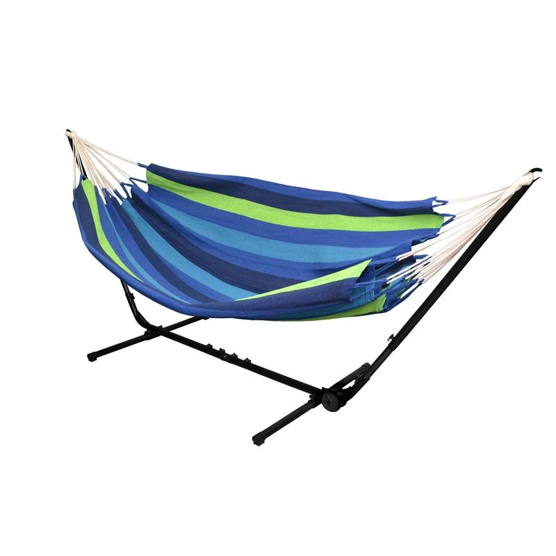Medium image of two trees 160 x 230cm double hammock with frame  bunnings this could be a nice