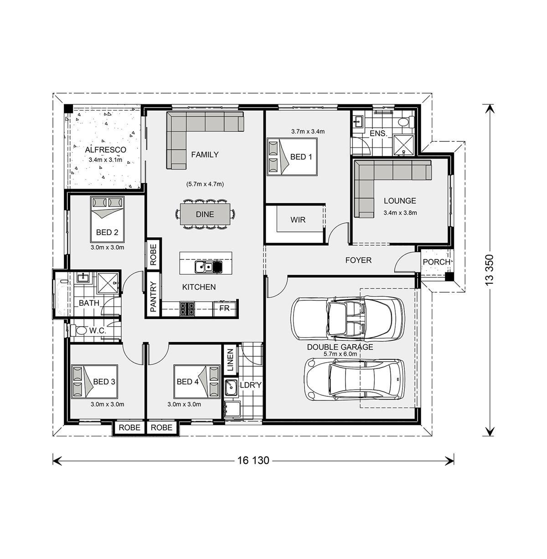 Fernbank Home Designs In Bendigo G J Gardner Homes Town House Floor Plan House Plans Modern House Floor Plans