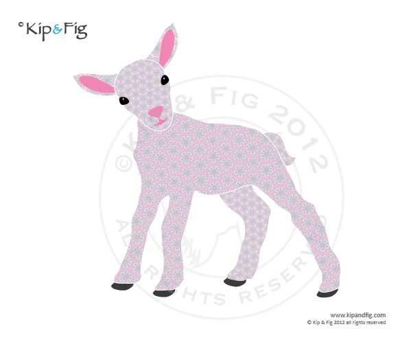 Lamb applique template | Template, Patterns and Craft