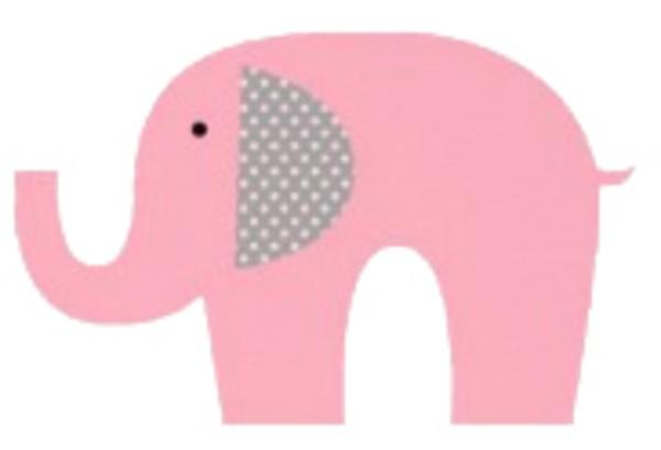 Download Elephant Pink   Free Images at Clker.com - vector clip art ...