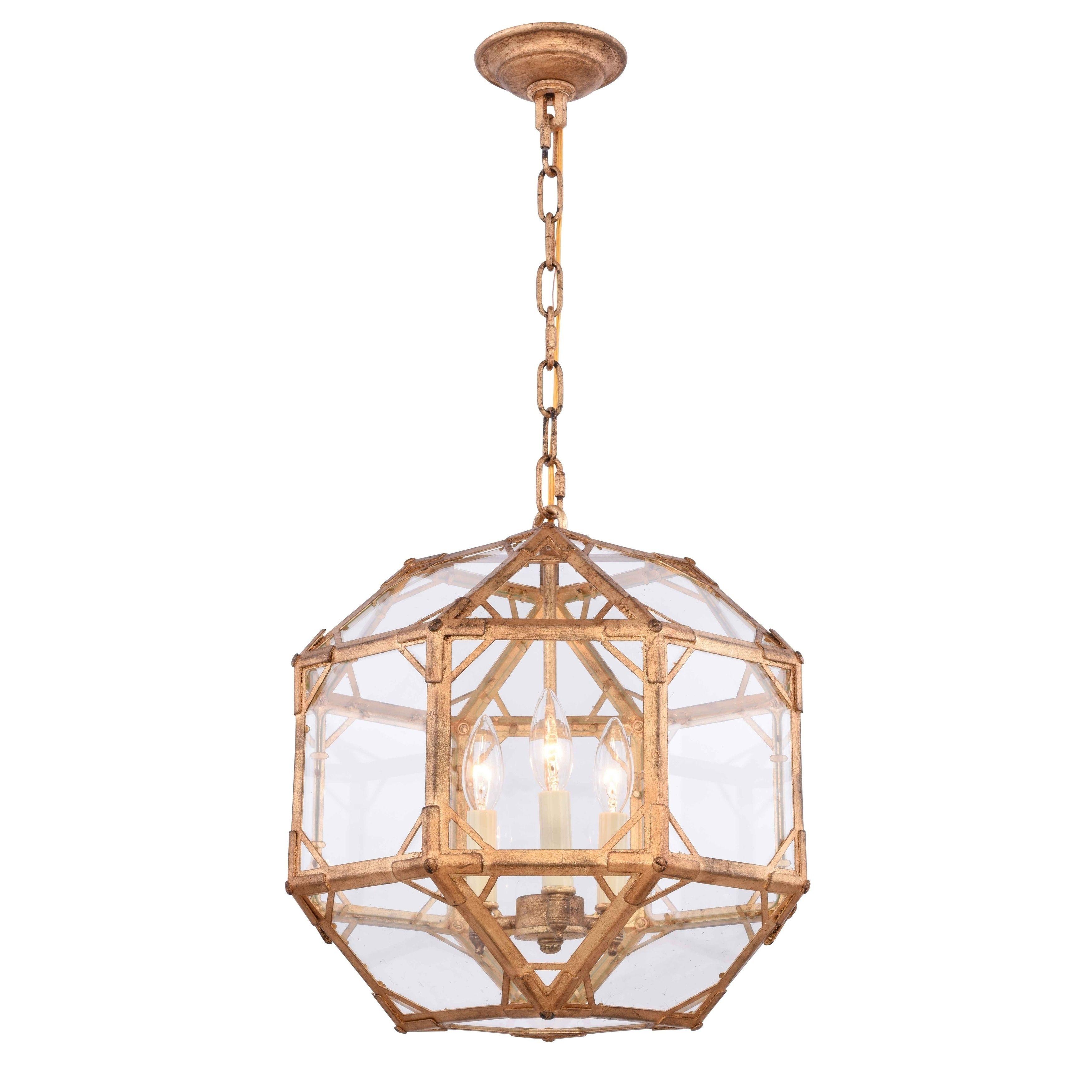 Royce edge light pendant golden iron polished nickel rustic