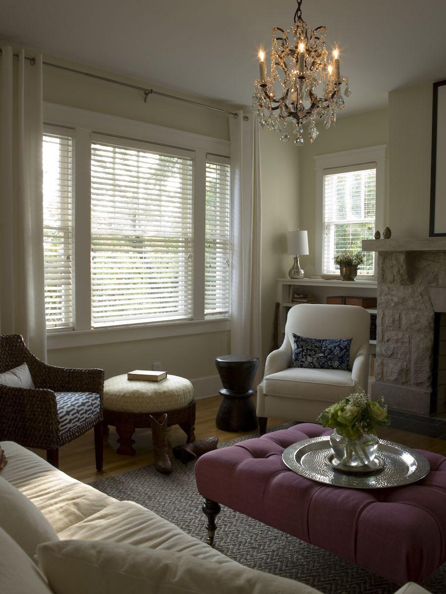Living Room By Marcelle Guilbeau, Interior Designer. Lee Furniture Ottoman,  Restoration Hardware Chandelier