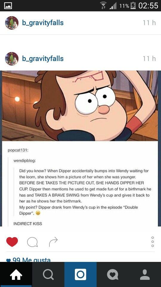 Indirect Kiss Gravity Falls Fall Fandoms