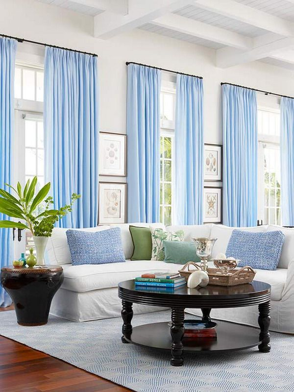 Curtain Designs For Living Room Contemporary Prepossessing Contemporary Living Room Interior Design With Blue Curtains And Decorating Inspiration