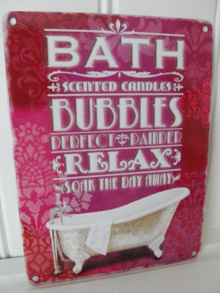 Wall Plaques For Bathroom. Vintage Style Bath Bathing Parlour Wall Sign Chic N Shabby Bathroom Plaque