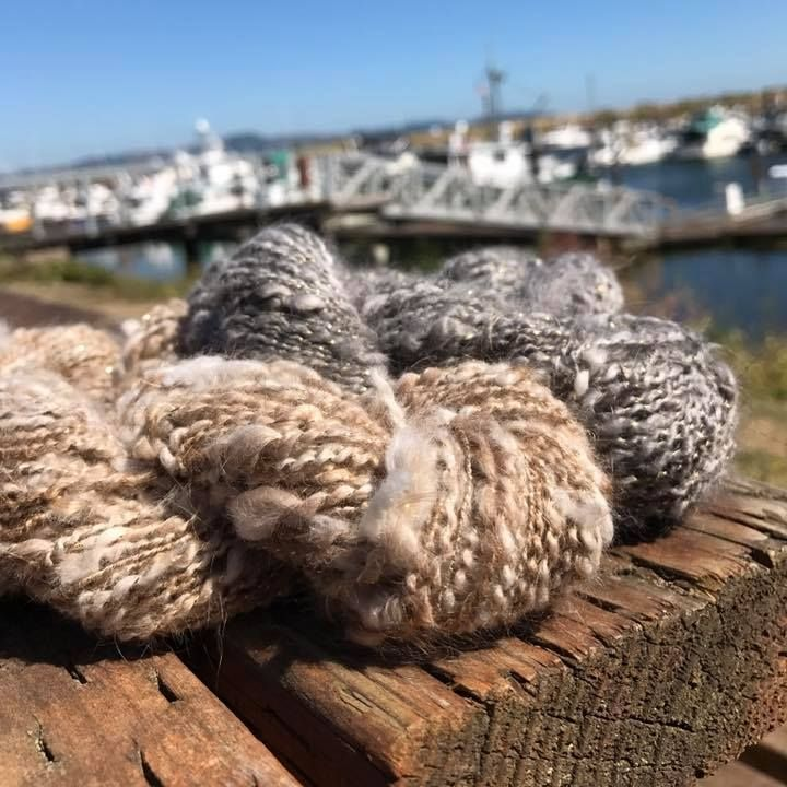 Angora for the win! These are handspun 100% angora yarns. We will be selling raw angora by the bag in the Raw Wool Sale! @woolandfiberarts #handmade #angora #angorayarn #yarn #handspunyarn #handspun #spinnersoftheworld #spinning #spinningfiber #fibercrafty #spinningwheel #felting #handdyed #indiefiber #handspinner #feltingwool #woollove #spinersofinstagram #ravelry #roving