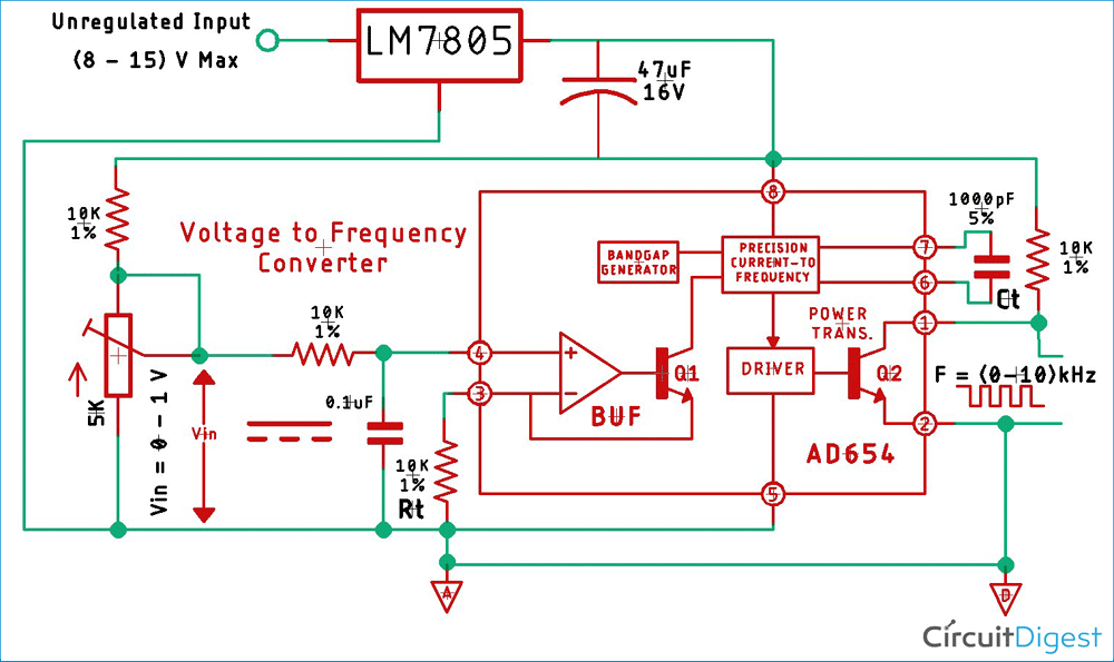 Voltage To Frequency Converter Circuit Diagram A Wiring