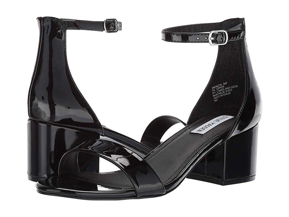 d7faa30f834 Steve Madden Irenee Sandal (Black Patent) Women s 1-2 inch heel Shoes.