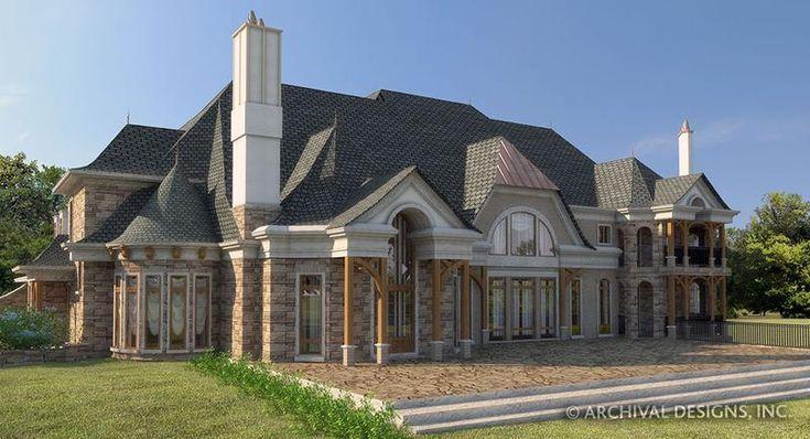 Manderston Estate House Plan  Europäischer Hausplan  Französischer Landhausplan  Archivierungsentwürfe  Luxury home plan