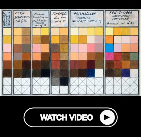 Colored Pencils Skin Tones Chart Combinations Portrait Sets Prismacolor Derwent Lyra Koh I Noor Skin Tone Chart Colored Pencils Skin Tones
