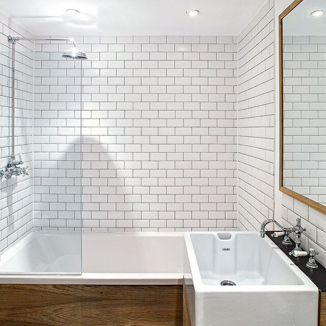 Old Fashioned Rectangle Bathroom Tiles Small Bathroom