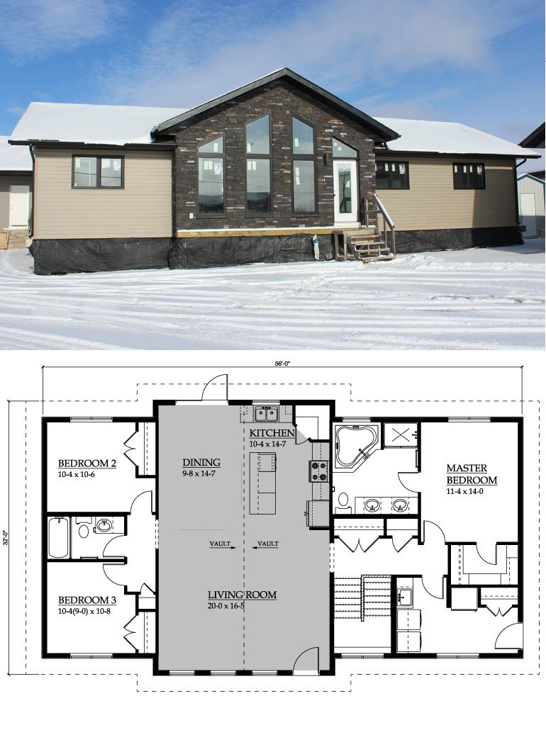 Warman Homes 1605 Mt Brett 1652 Sq Ft Casas Modulares Planos De Casas Arquitectura