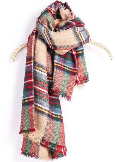fa8f250dcb32 Scarf Fall Winter Fashion Plaid Warm Comfy Trendy Scarves