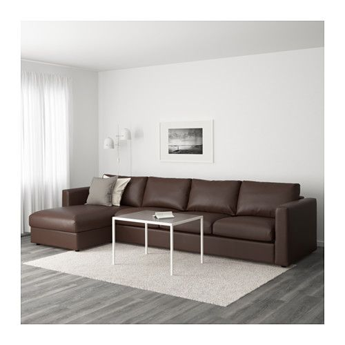 VIMLE Sectional, 4-seat, With Chaise, Orrsta Black-blue