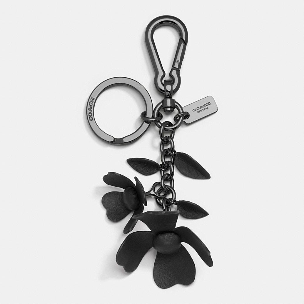 Tea Rose Bag Charm Handmade Leather Wallet Leather Flowers