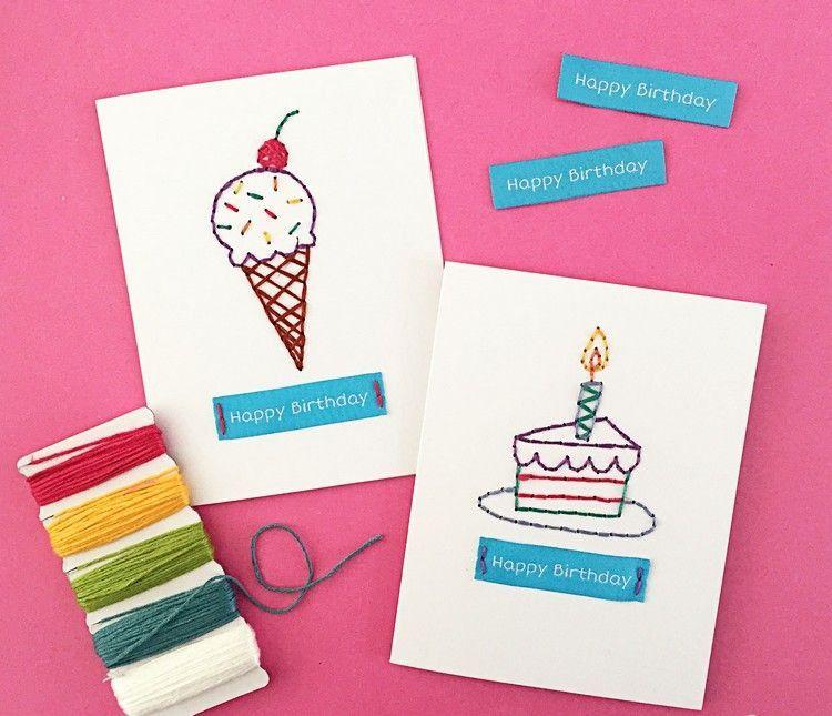 Geburtstagskarten Selbst Basteln Anleitung Awesome