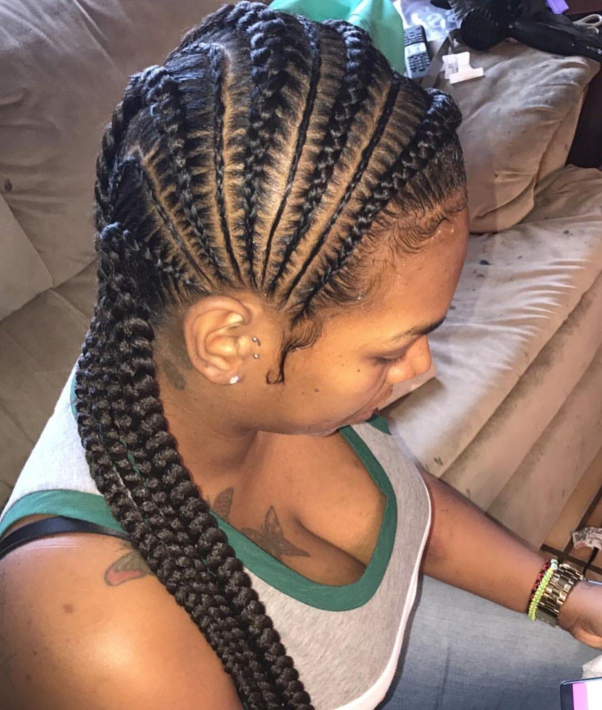 Braided Hair Styles 35 Beautiful Feed In Braid Styles  Pinterest  Braid Hairstyles