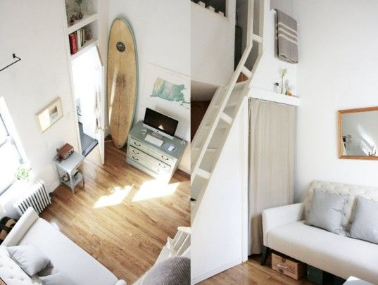 brooklyn couple lives comfortably in this tiny 240 square foot nyc rh pinterest com