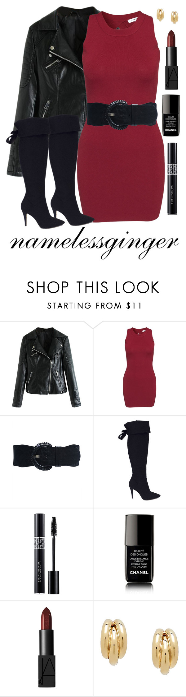 """untitled #62"" by namelessginger ❤ liked on Polyvore featuring Glamorous, Wet Seal, Via Spiga, Christian Dior, Chanel and NARS Cosmetics"