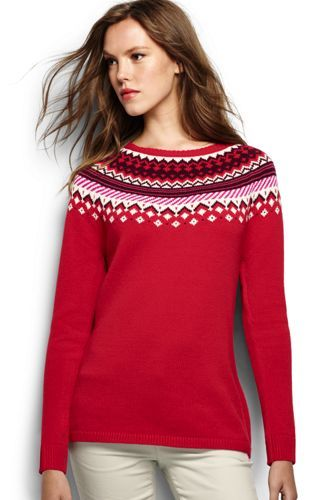 Women's Lofty Fair Isle Open Sweater from Lands' End   A makeover ...