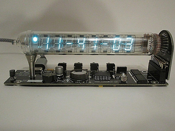 Assembled Ice Tube Nixie clock IV-18 VFD era IN Adafruit