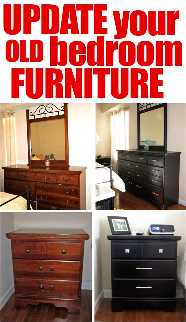 From Traditional To Modern Revamped Bedroom Furniture How To Nest For Less Furniture Makeover Redo Furniture Diy Furniture