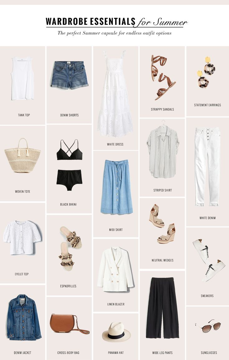 The Perfect Capsule Wardrobe for Summer - gaby burger