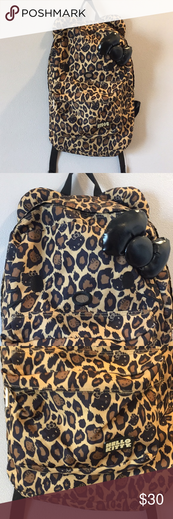 4e310d0536c3 Hello Kitty Backpack Leopard Back To School Large Hello Kitty Leopard Print  Backpack Large Size Great
