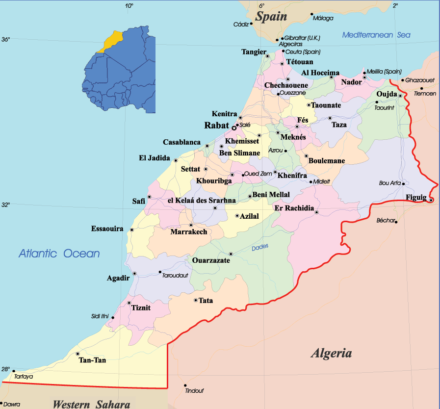 Tangier Map Africa Pin by Lucy batallal on Science project | Morocco map, Morocco, Map