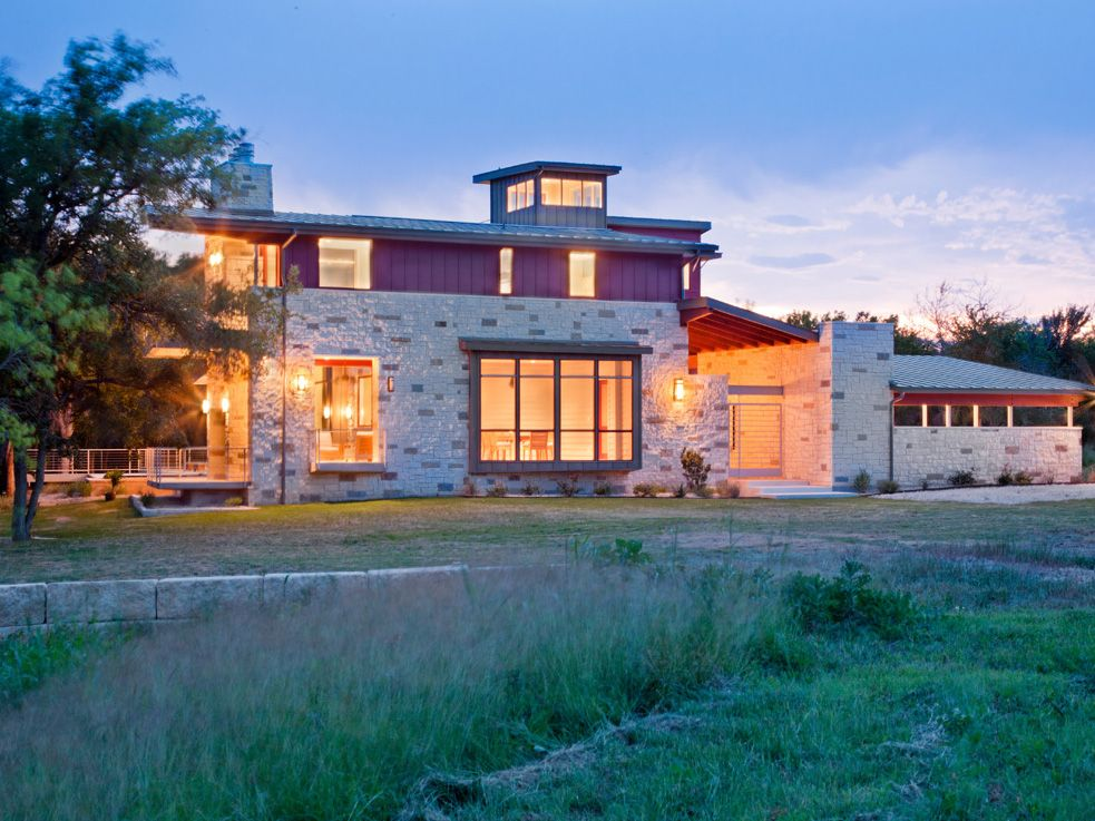 Hill Country Contemporary House | Exterior | Side Elevation | Paula ...