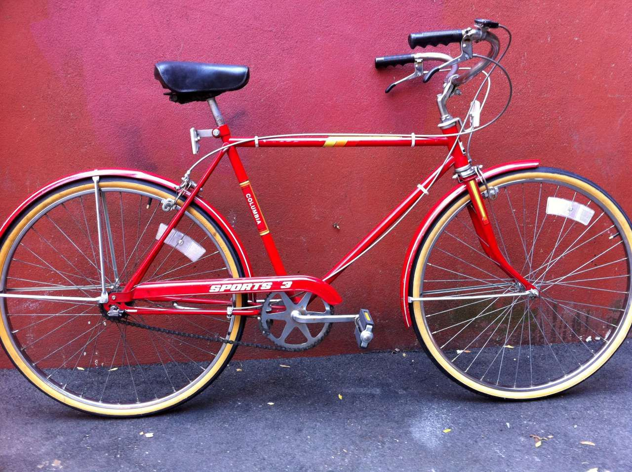 vintage columbia sports 3speed cruiser bicycle bike