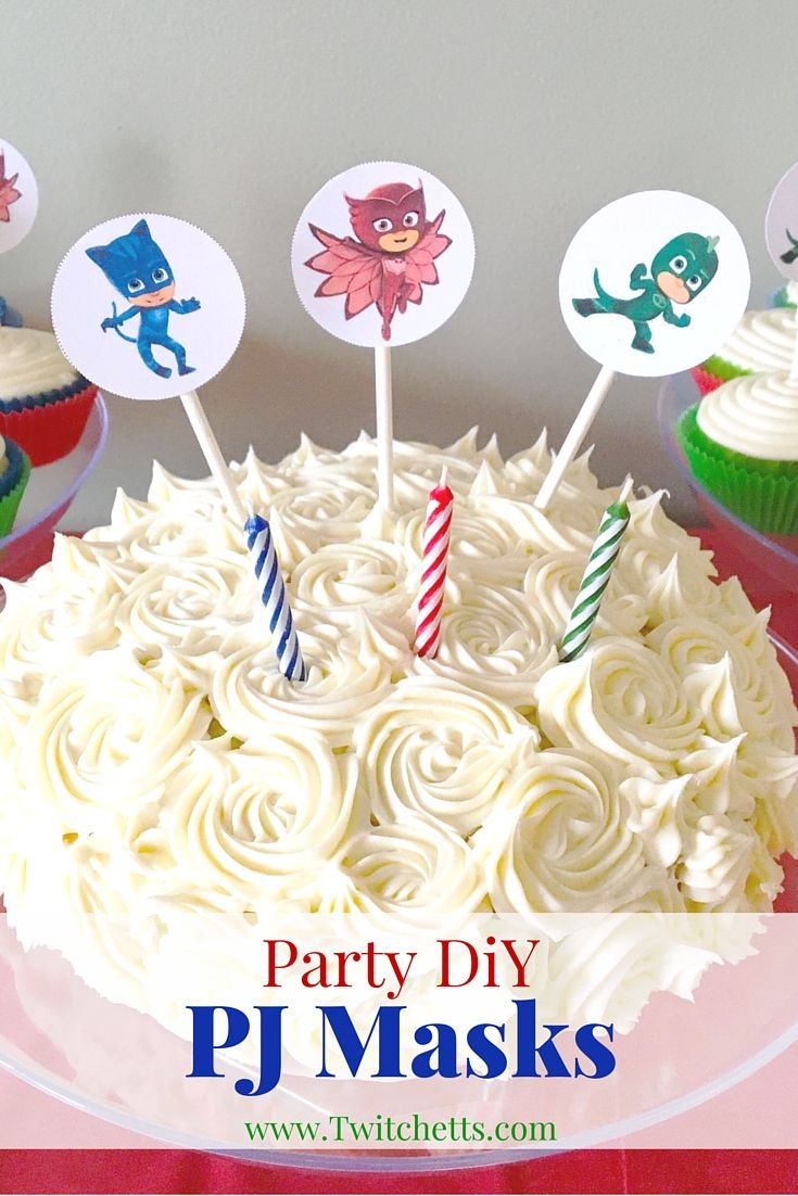 DiY Instructions To Create Cupcake Toppers Cake Decorations And PJ Masks Bracelets