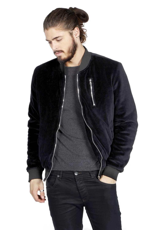 Slim Fit Velour Bomber Jacket | blvck threads | Pinterest