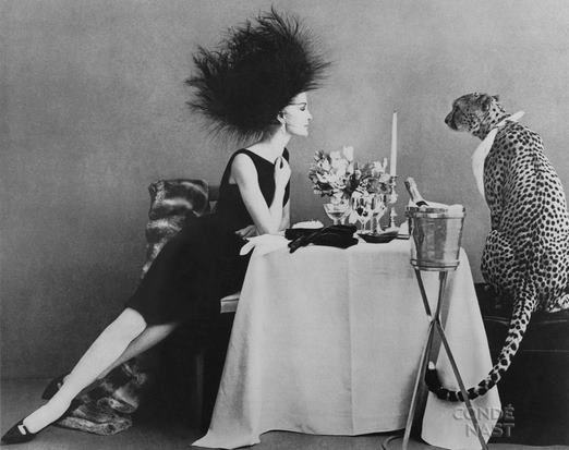 vintage ladies who lunch with cats