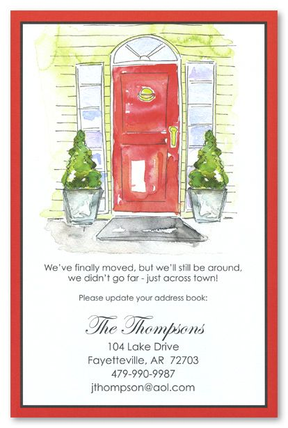 Moving Announcements \ Housewarming Invitations, Holiday Red Door - housewarming invitation template